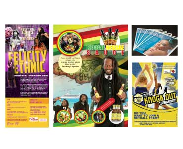 Assortment of flyers