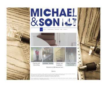 Michael and Son website